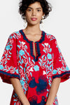 PEACOCK CAFTAN - RED