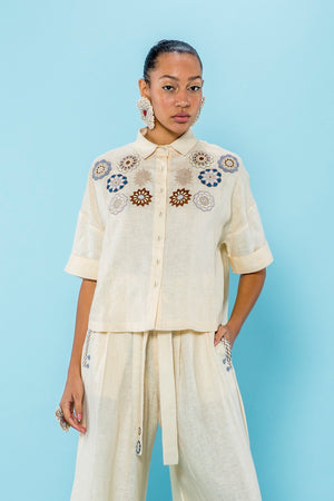 CROP BLOUSE - DAWN W/ EMBROIDERY