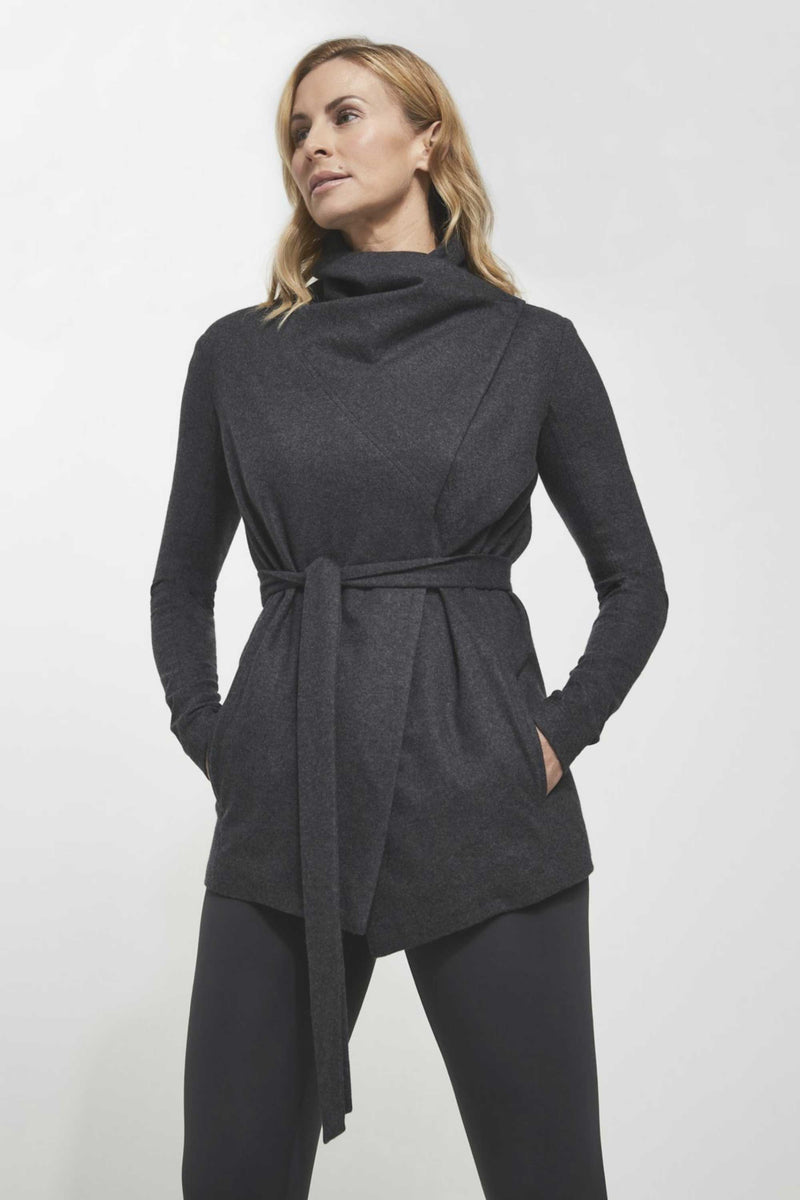 CASHMERE WRAP JACKET - PHANTOM