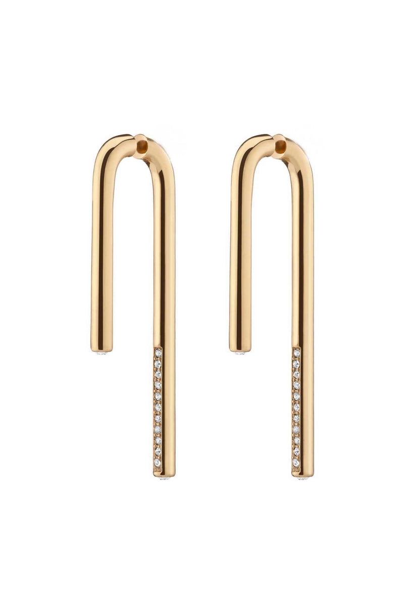 CELESTE LINEAR DROP EARRINGS - GOLD