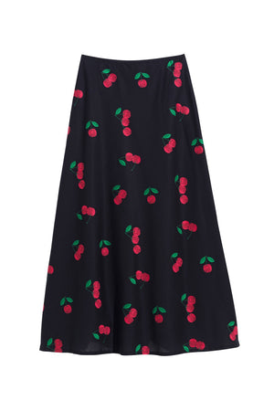 CECILE SKIRT - CHERRY BLACK