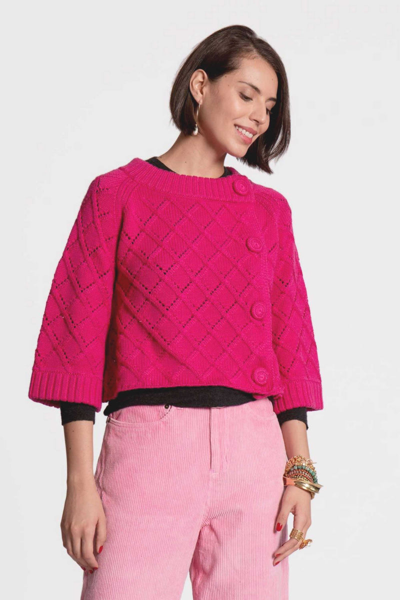DIAMOND CARDIGAN - PINK