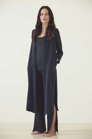 LUXE CREPE SILK DUSTER - MIDNIGHT