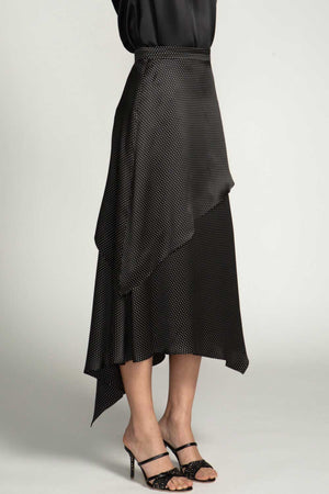 ESTHER SKIRT - BLACK PIN DOT