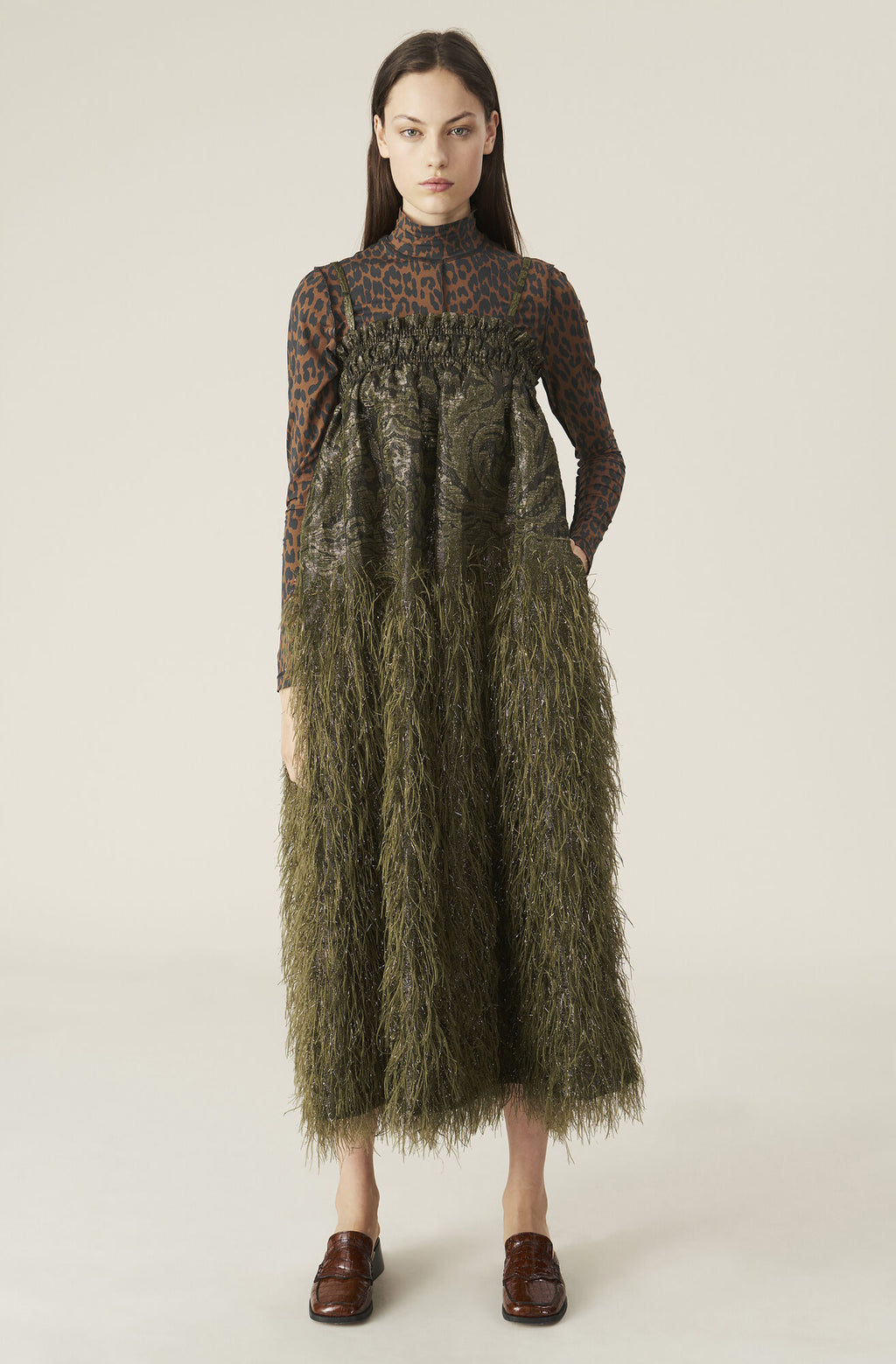 FEATHERY COTTON STRAP DRESS - KALAMATA