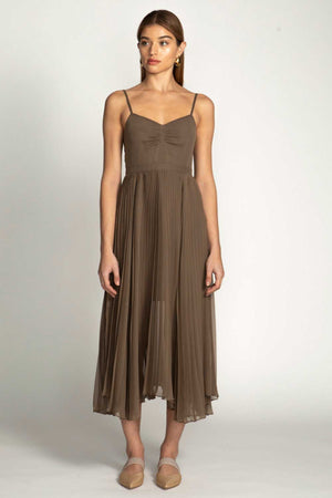 GEORGIANA DRESS - TAUPE