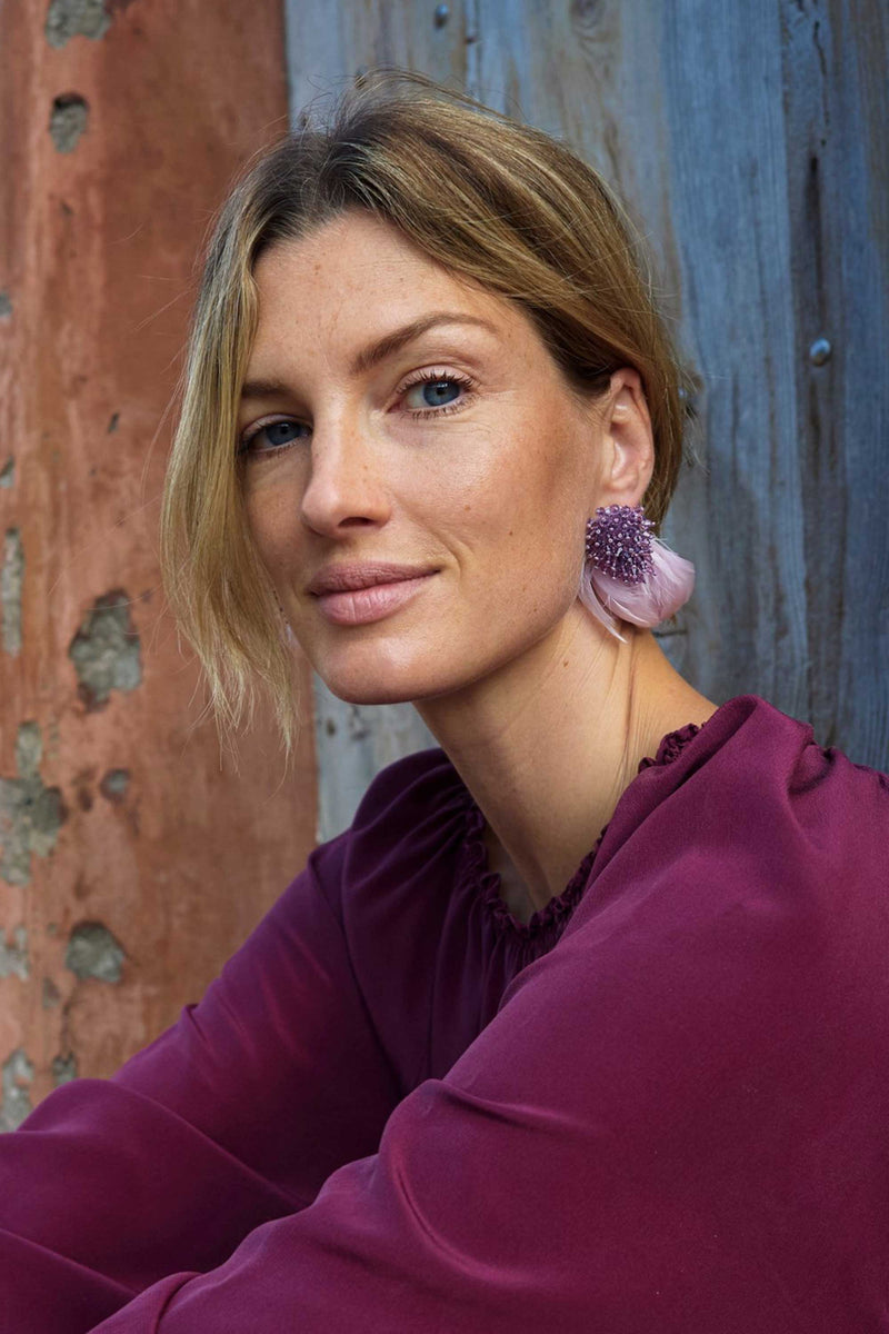 MINI DELANEY EARRINGS - LIGHT PURPLE