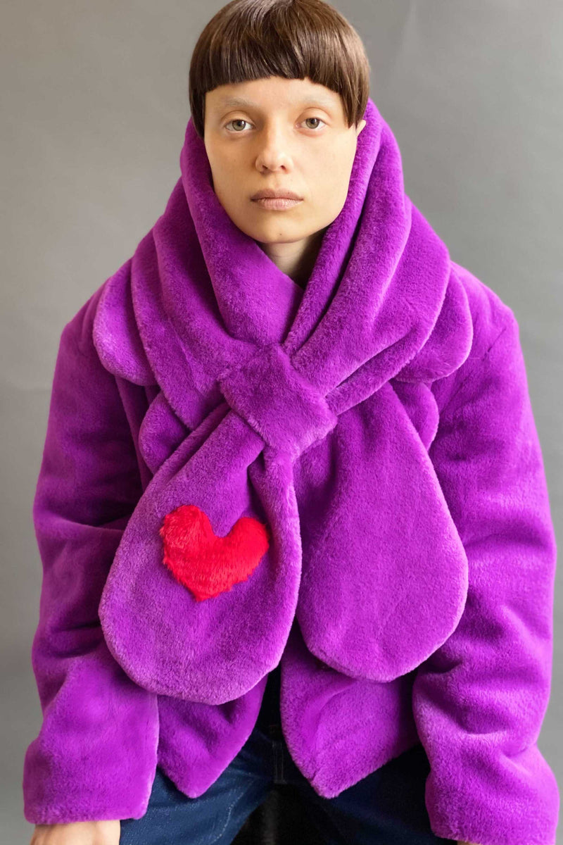 TEDDY LOVE SCARF in VIOLET