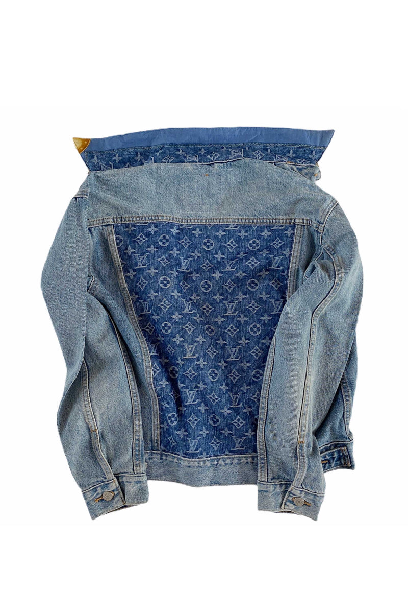 DENIM JACKET WITH LOUIS VUITTON MONOGRAM BANDANA SCARF - DENIM MULTI