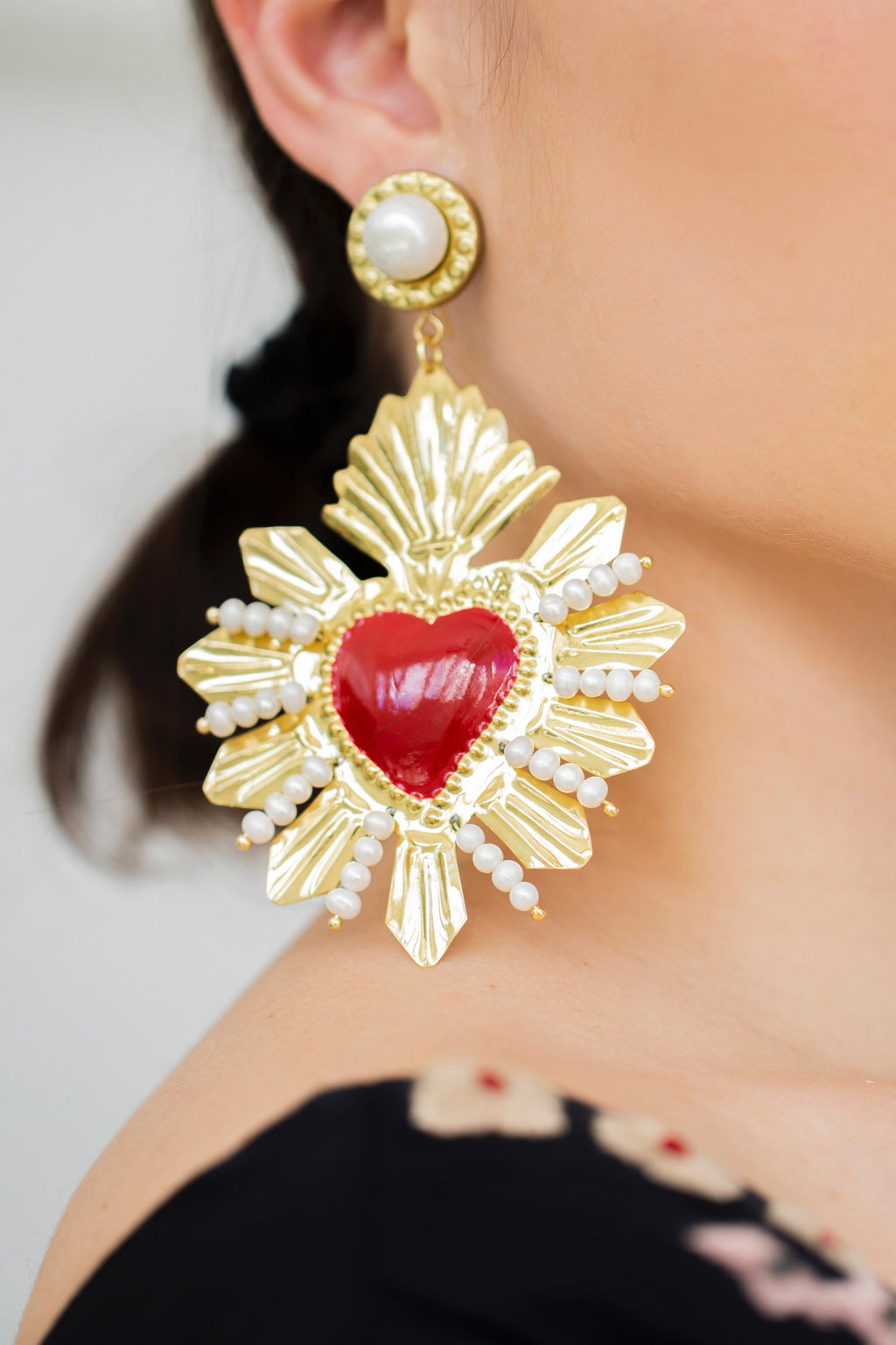 VENETIAN HEART GOLD RED