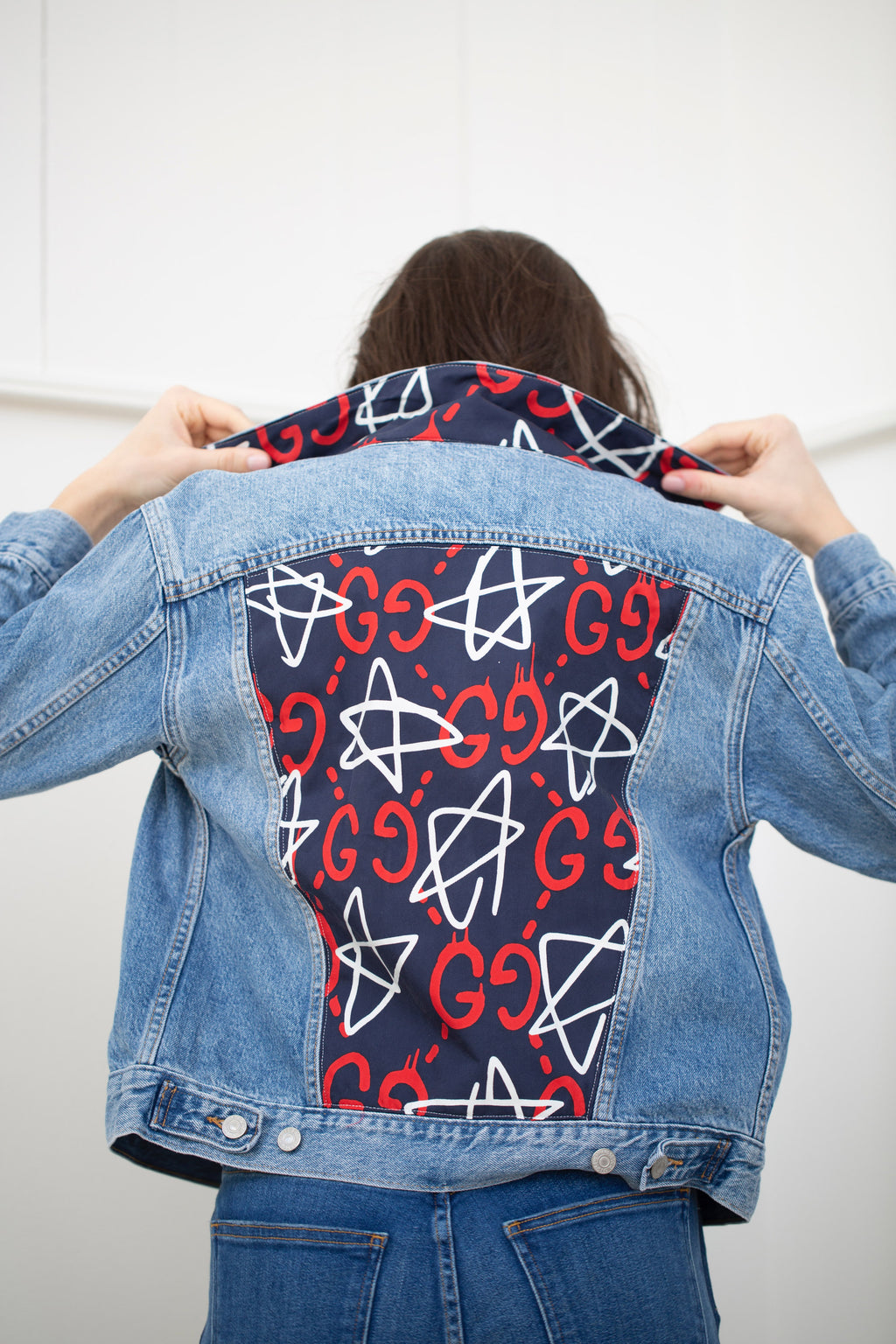 GUCCI GG MONOGRAM STAR DENIM JACKET