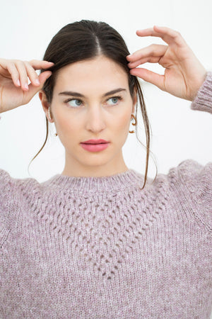 SISSY SWEATER in HEATHER ROSE