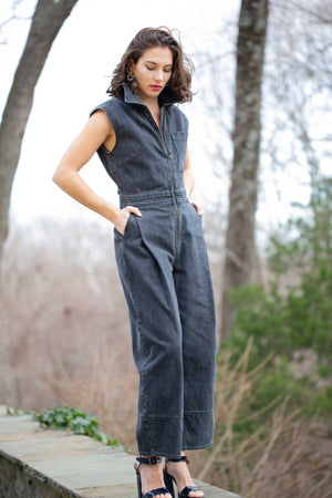 ANNIN JUMPSUIT - WASHED BLACK