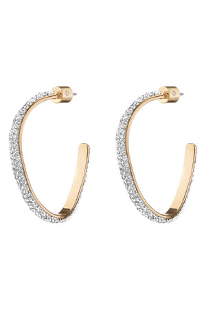 PAVE MINI CALYPSO HOOPS - CRYSTAL