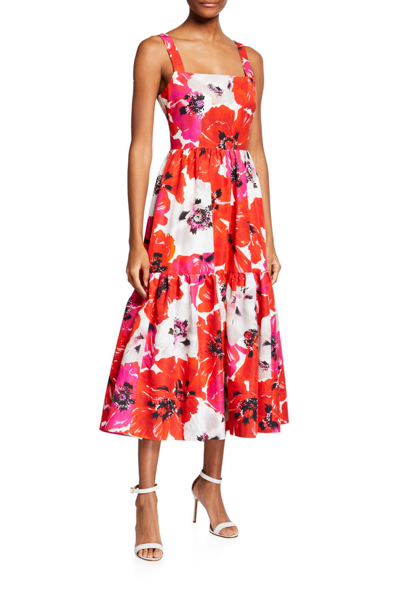 GIA DRESS - PINK LARGE FLORAL
