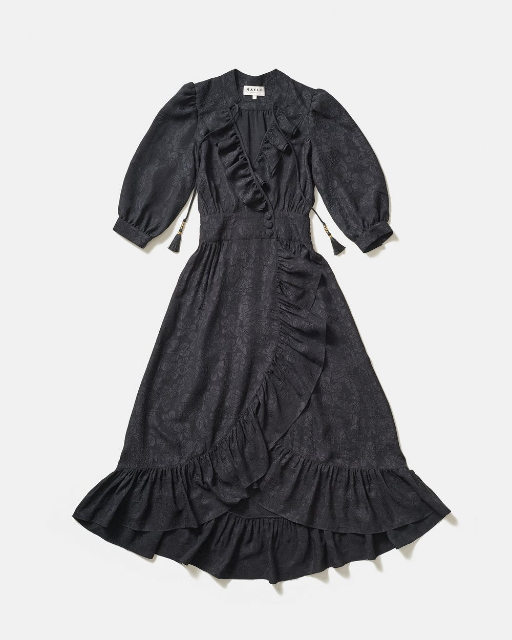 PALMA DRESS - BLACK JACQUARD