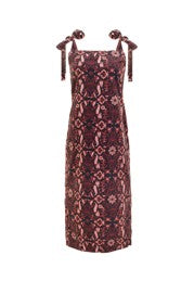 ARYA DRESS - BURGUNDY MULTI