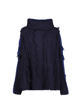 ROOTS SWEATER - NVY / BLUE