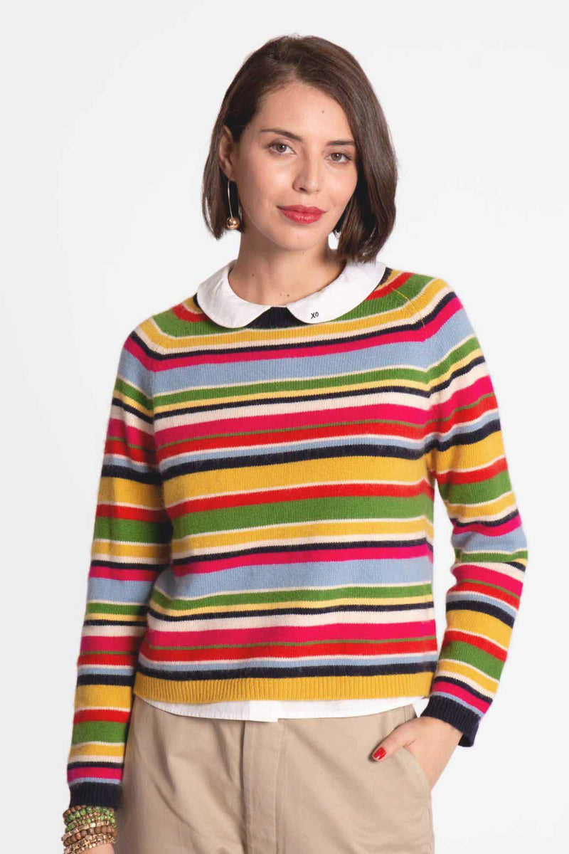 JAMES STRIPE SWEATER -  MULTISTRIPE