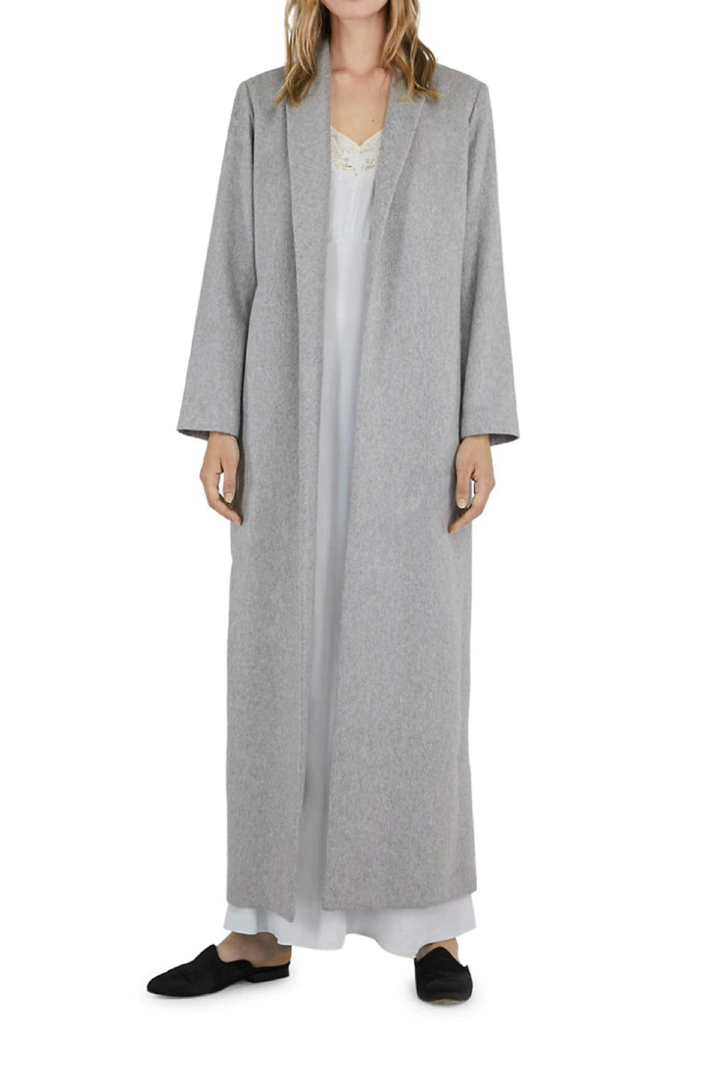 CHLOE CASHMERE COAT - GREY