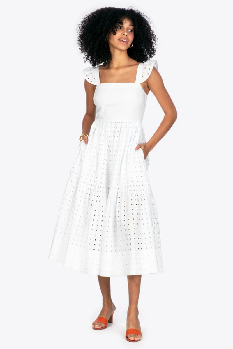 ALILAH DRESS - OPTIC WHITE