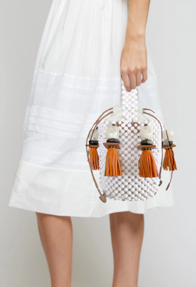 GRECCA BUCKET BAG - WHITE