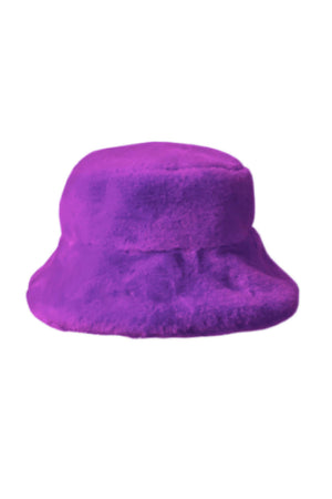 TEDDY BUCKET HAT in VIOLET