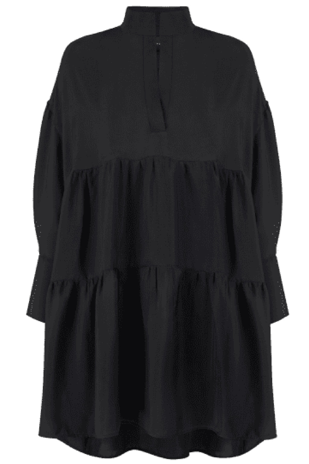 LILA BLACK VISCOSE DRESS in BLACK