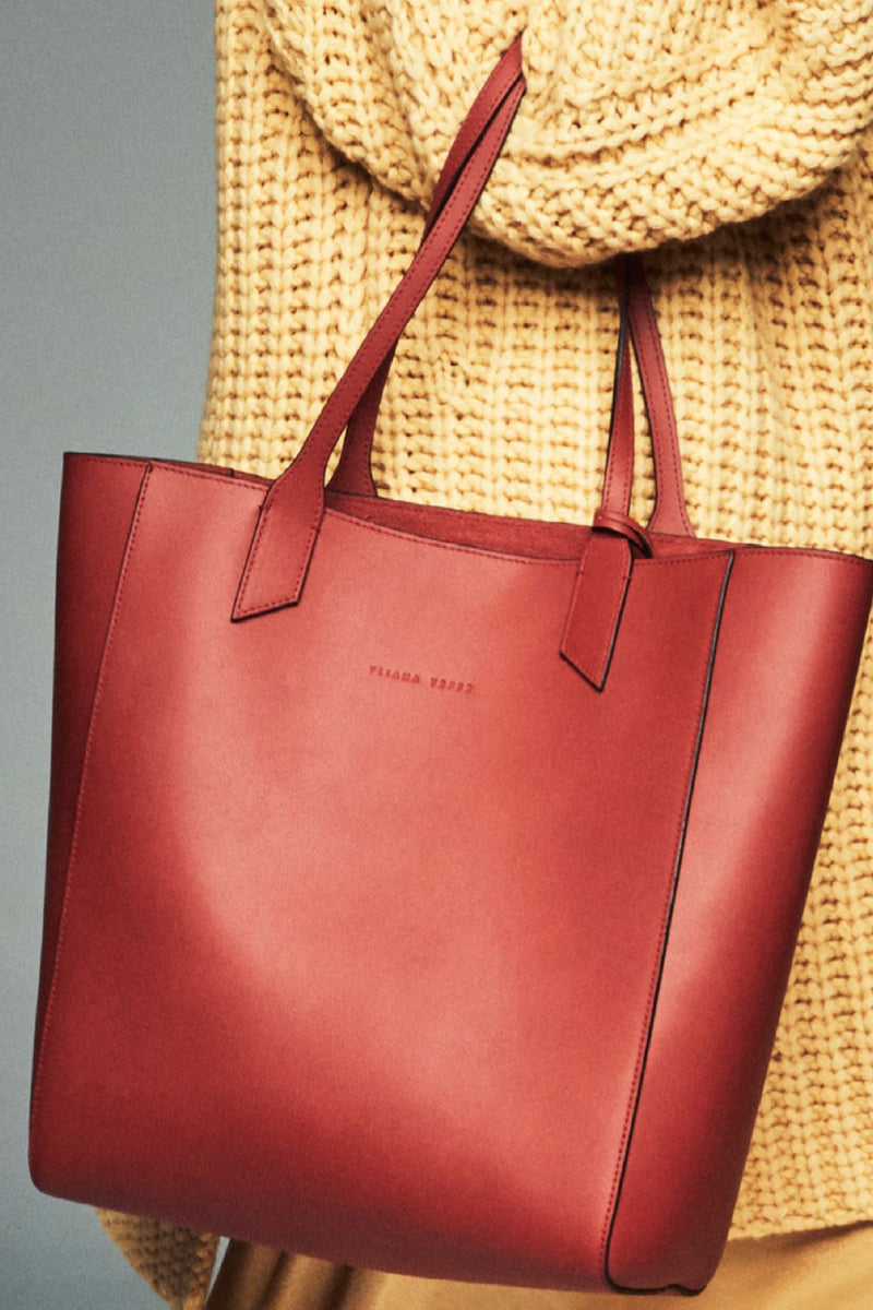 SARAH TOTE in BURNT ORANGE