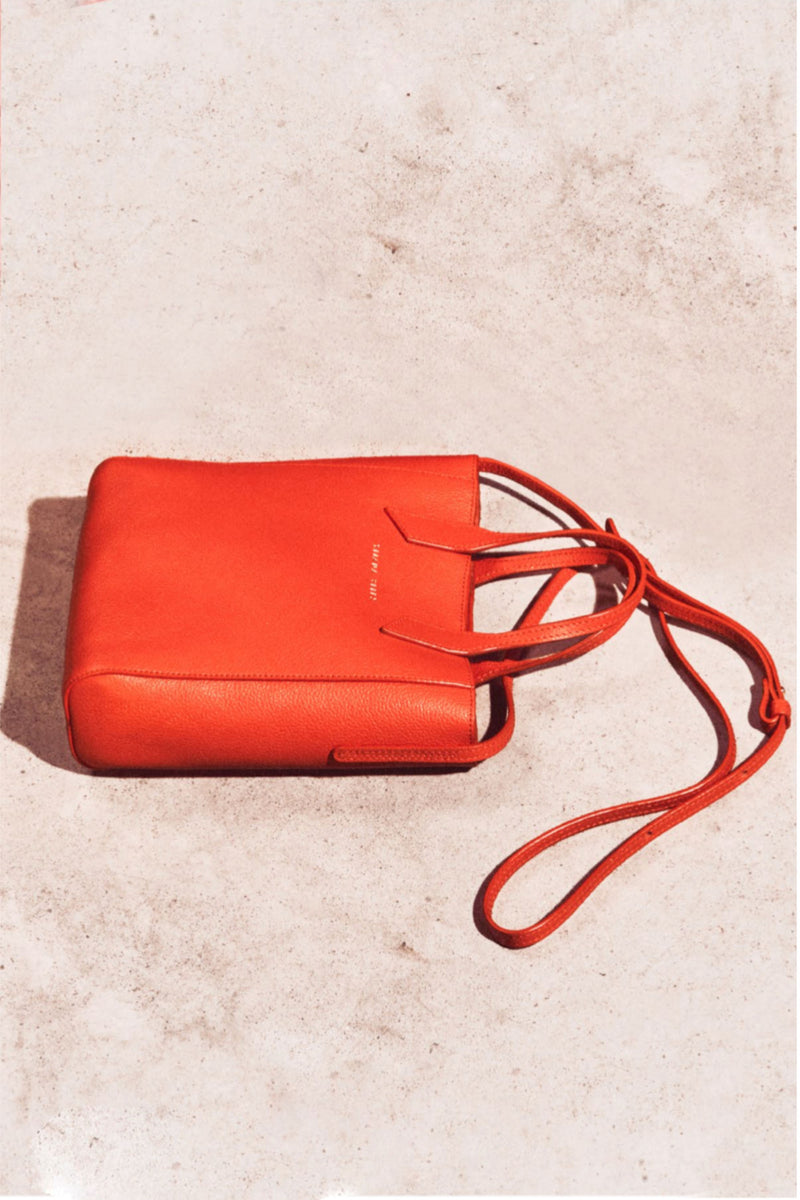 MINI SARAH TOTE in ORANGE