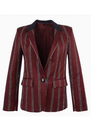 TUX BLAZER - BURGUNDY STRIPES