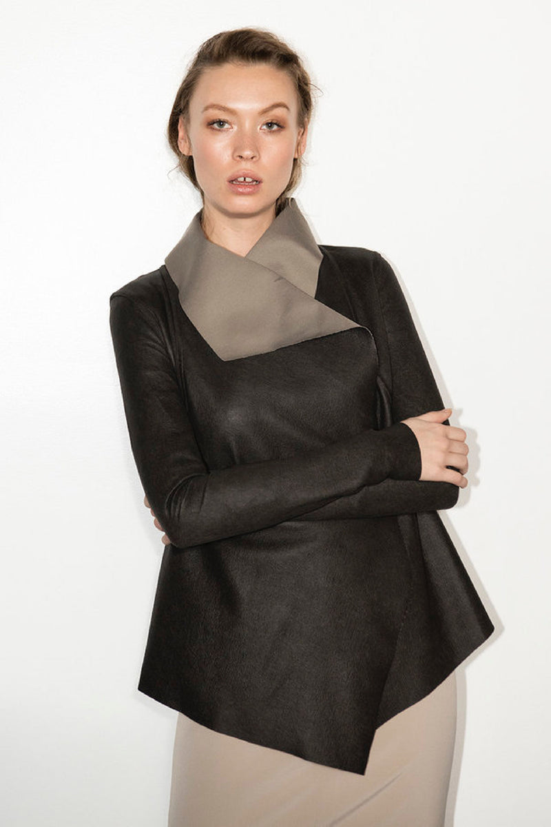 REVERSIBLE DRAPE JACKET