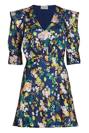 AUDREY FLORAL DRESS in NAVY MULTI