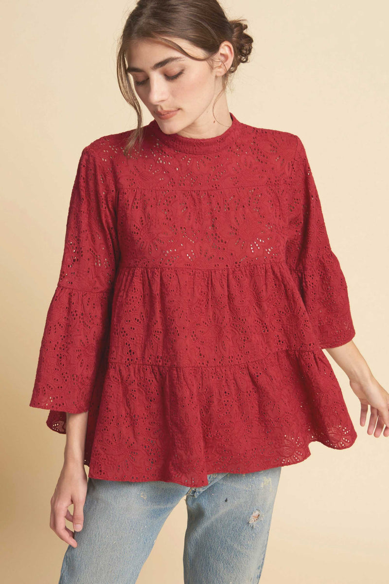 LAYER BLOUSE - SCARLET