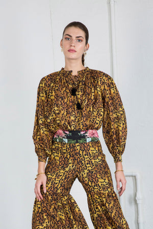KATIE BLOUSE in LEOPARD