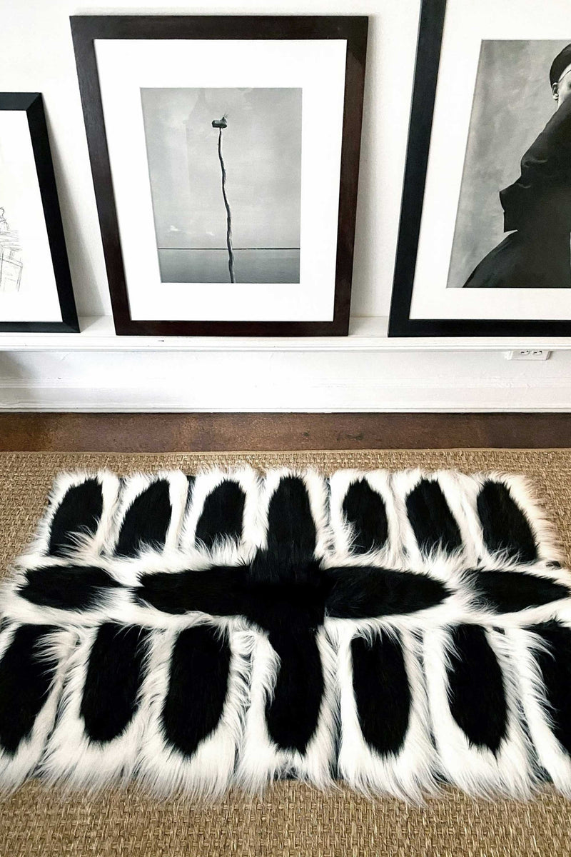 COLOBUS RUG RUNNER in BLACK & WHITE