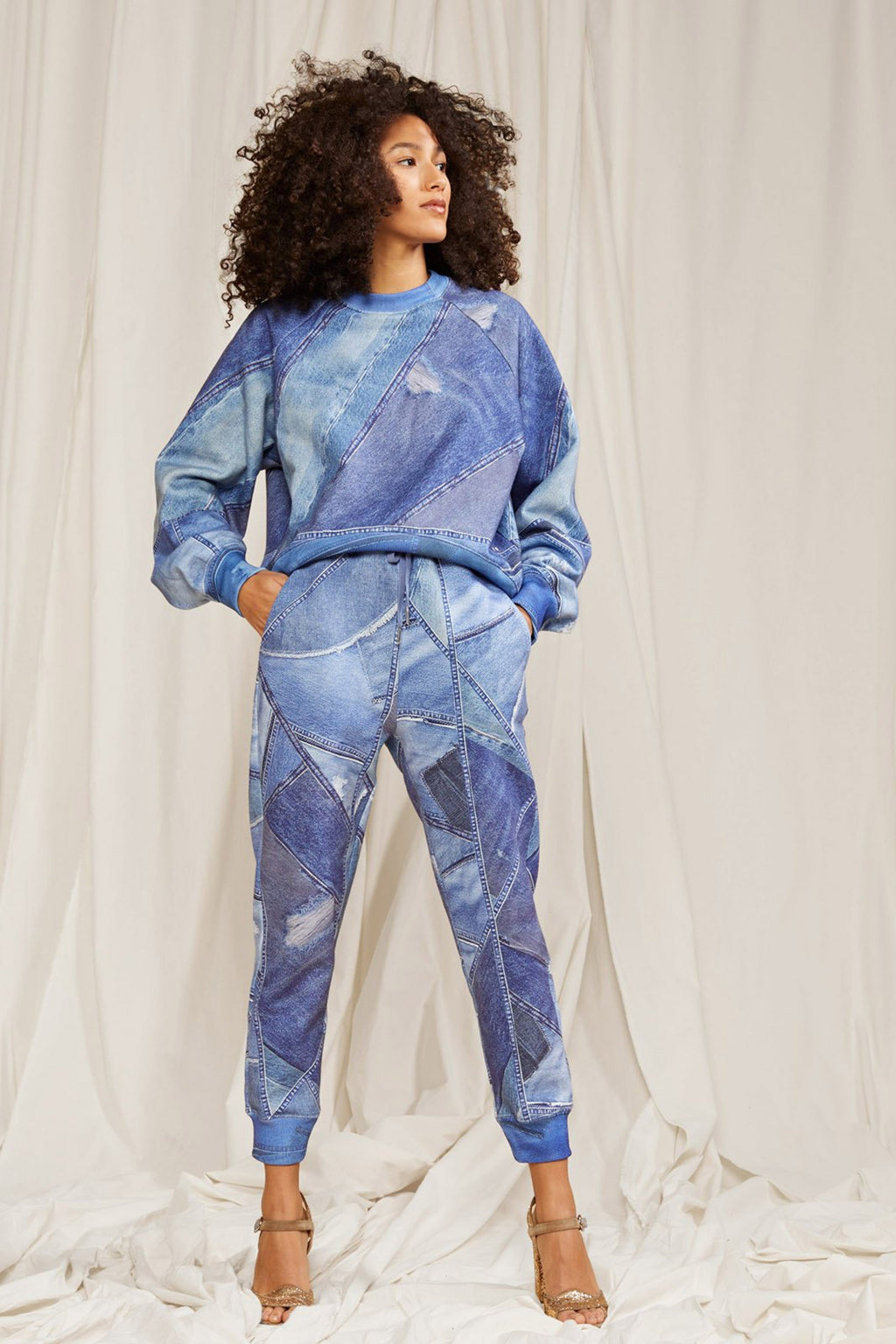 DIXIE DENIN PRINTED SWEATPANTS