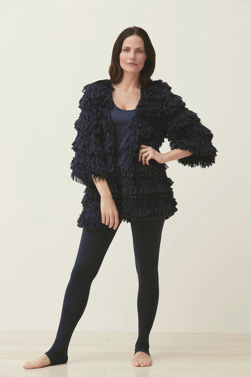 BOHEMIAN FRINGE CARDIGAN - MIDNIGHT
