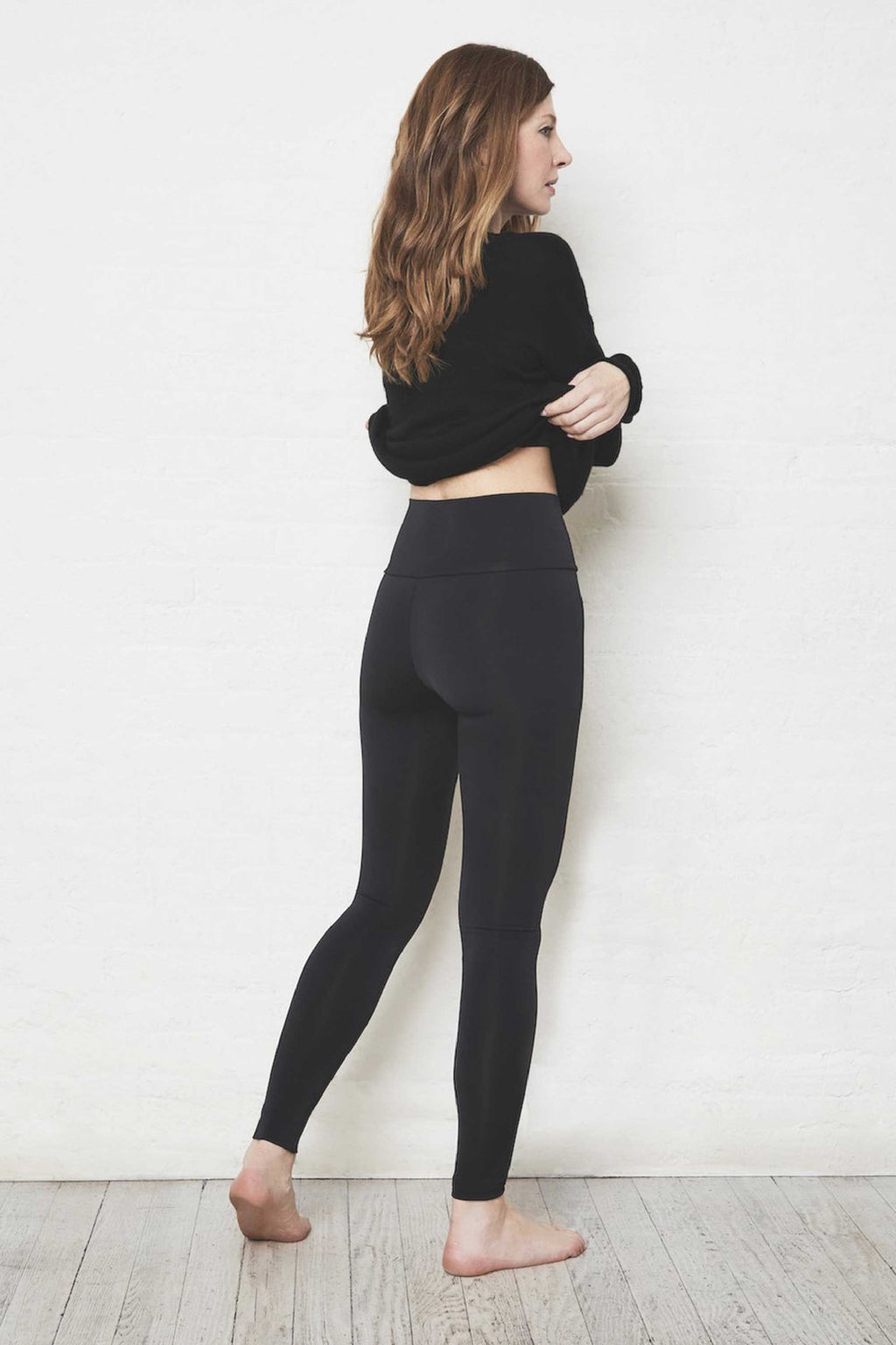 LUXE HIGH WAIST LEGGING - JET BLK