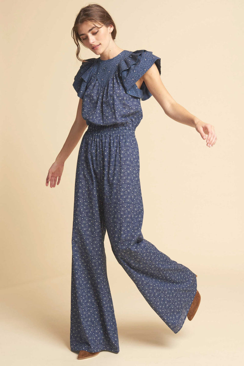 KISS JUMPSUIT - NAVY