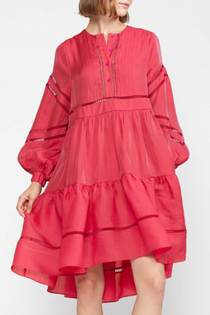 ROMA LACE DRESS in RED
