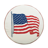 Size A  US Flag  34 Diam  Spare Tire Cover