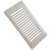 White  4 x 8 Floor Register w/o Damper