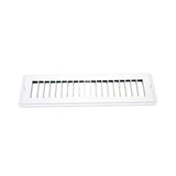 White  2-1/4 x 10 Floor Register w/o Damper