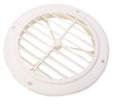 White  4  Round  w/o Damper Ceiling Register