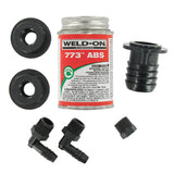 1-1/4 Barbed Straight  ABS Water Tank Fill Kit Fresh Water Tank Fill Kit