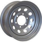 Silver  6H-5.5  15X6  10-Hole Design Wheel