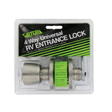 Stainless  Adj Backset  Knob/Lever  Keyed Lockset