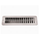 White  2-1/2 X 10 Floor Register w/ Damper