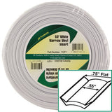 Standard  White  3/4 x 50\'  Narrow Vinyl Insert Trim